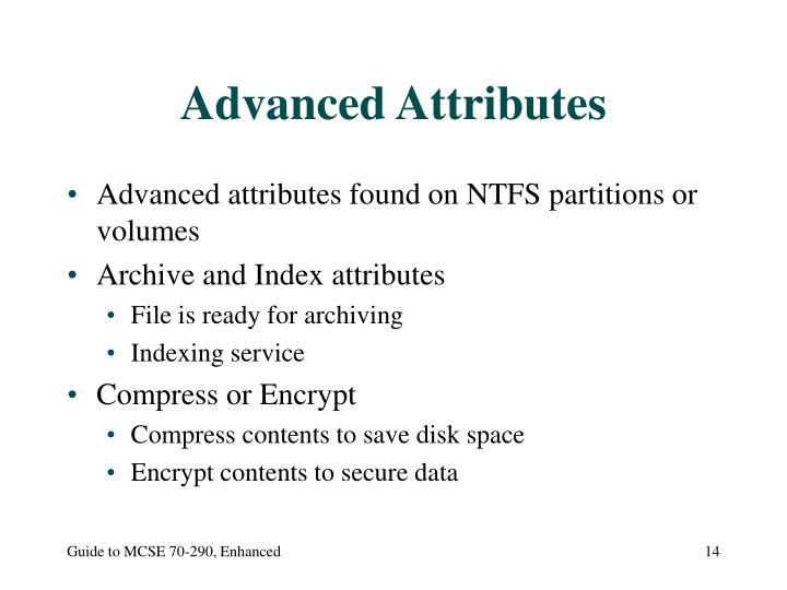 Advanced Attributes