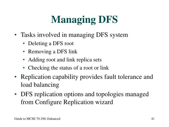 Managing DFS
