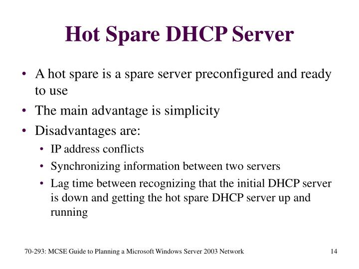 Hot Spare DHCP Server