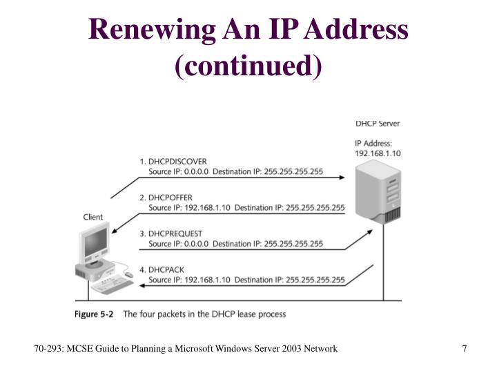 Renewing An IP Address (continued)