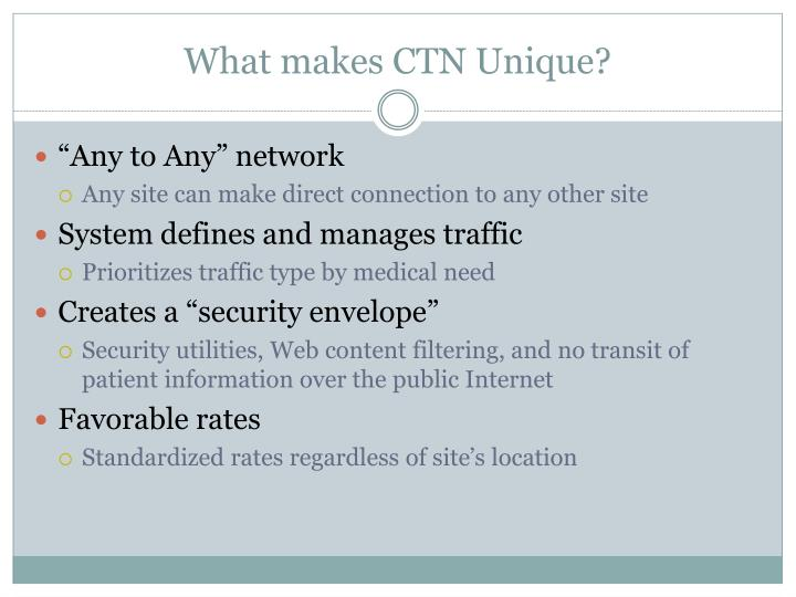 What makes CTN Unique?