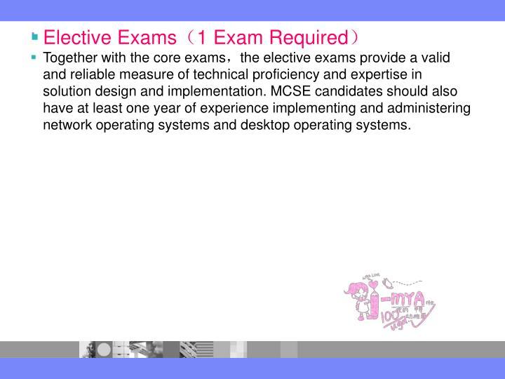 Elective Exams