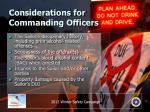 considerations for commanding officers