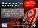 how the navy finds out about duis