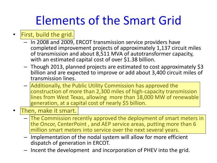 Elements of the Smart Grid