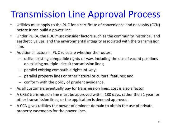 Transmission Line Approval Process