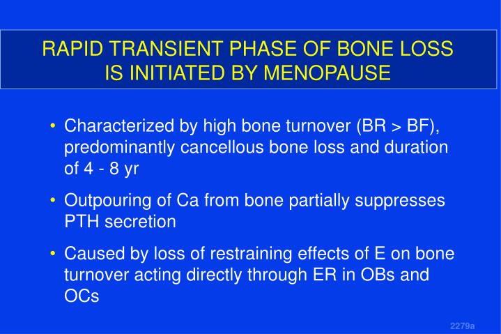 RAPID TRANSIENT PHASE OF BONE LOSS