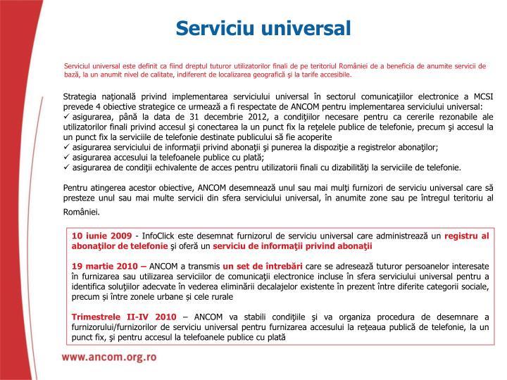 Serviciu universal