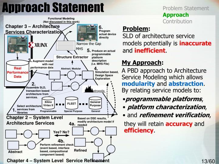 Approach Statement