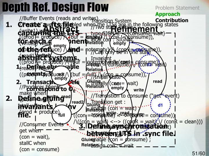 Depth Ref. Design Flow