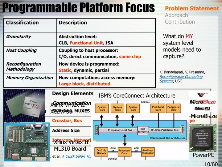 Programmable Platform Focus