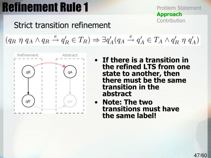 Refinement Rule 1