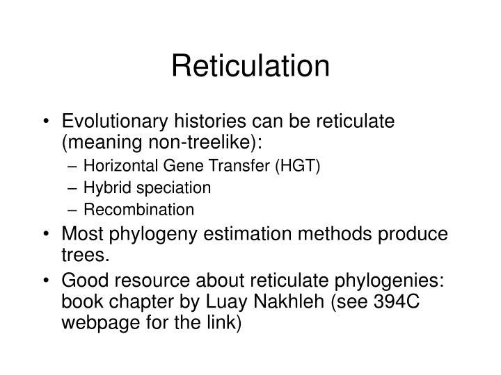 Reticulation