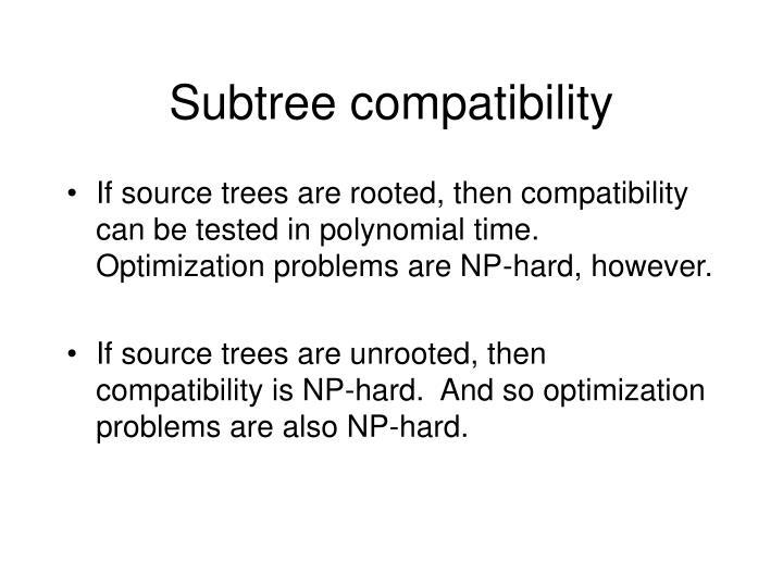 Subtree compatibility