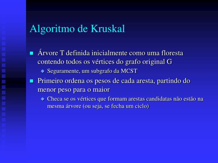 Algoritmo de Kruskal