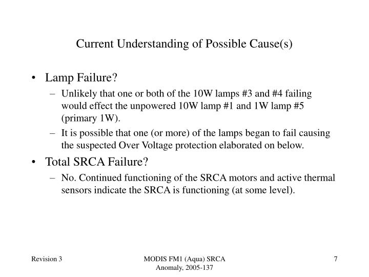 Current Understanding of Possible Cause(s)