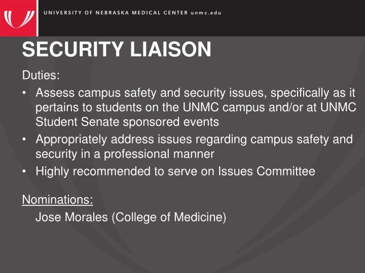 SECURITY LIAISON