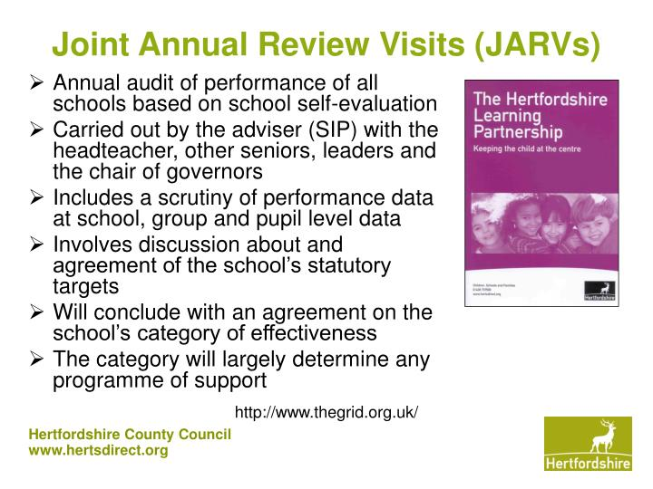 Joint Annual Review Visits (JARVs)
