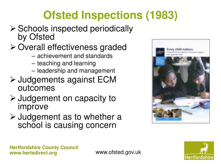 Inspection of teaching, learning and assessment