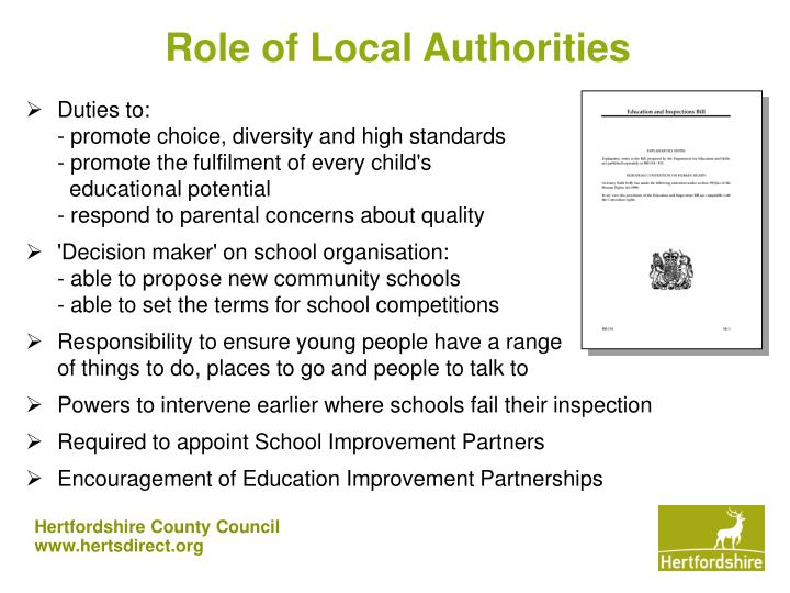 Role of Local Authorities