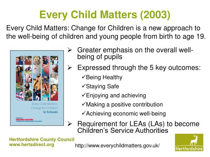 Every Child Matters (2003)