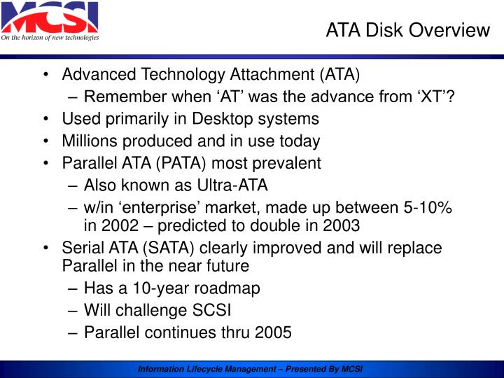 ATA Disk Overview