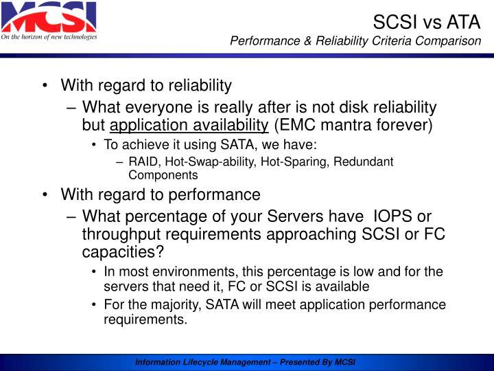 SCSI vs ATA