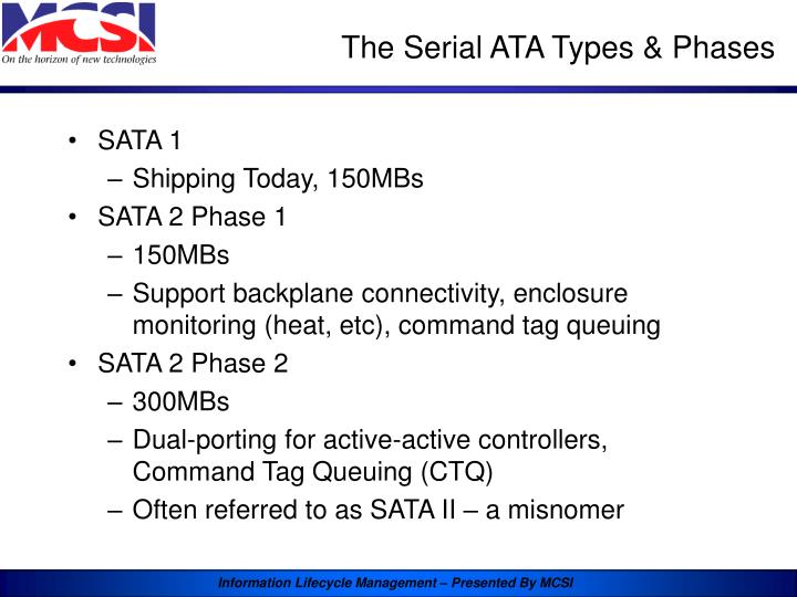 The Serial ATA Types & Phases