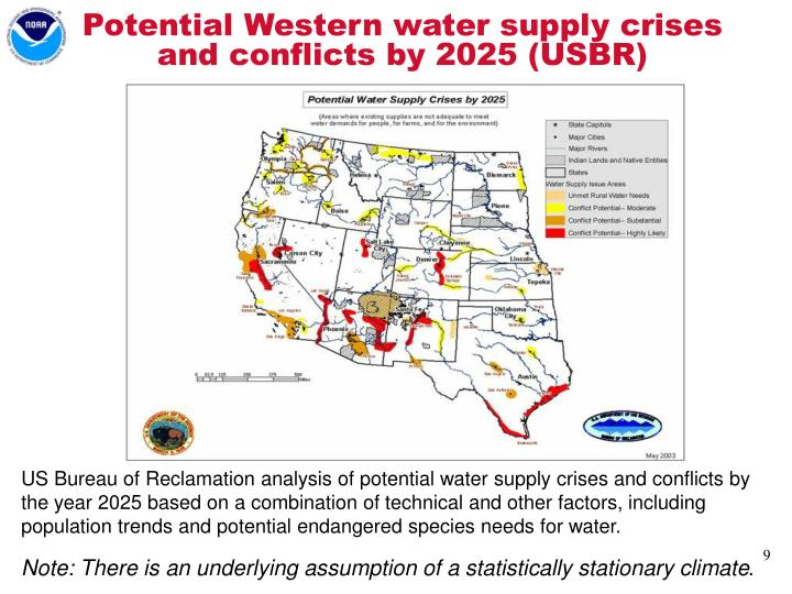 Potential Western water supply crises