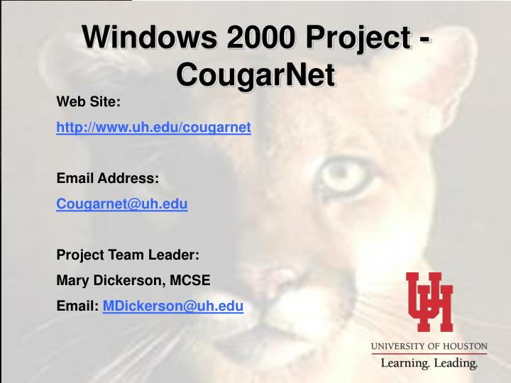 Windows 2000 Project - CougarNet