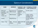 spectrum considerations