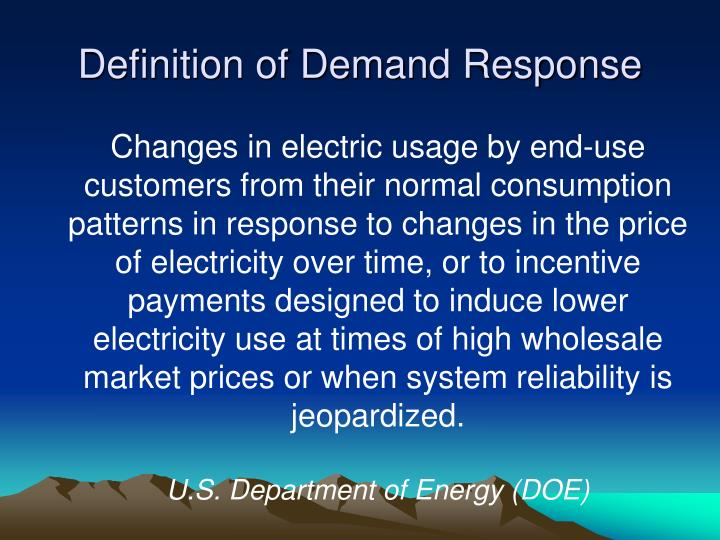 Definition of Demand Response