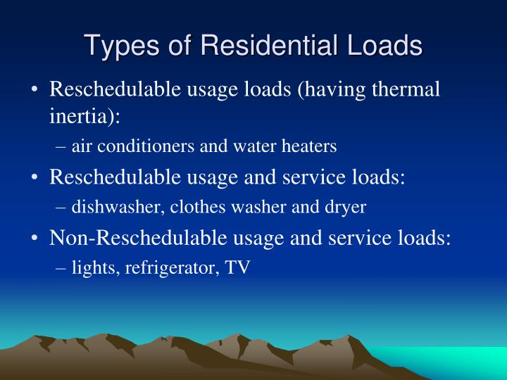 Types of Residential Loads