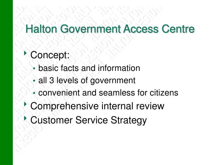 Halton Government Access Centre