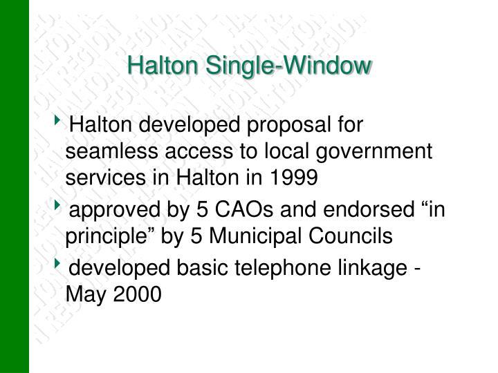 Halton Single-Window