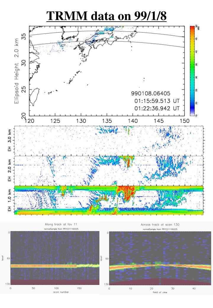 TRMM data on 99/1/8