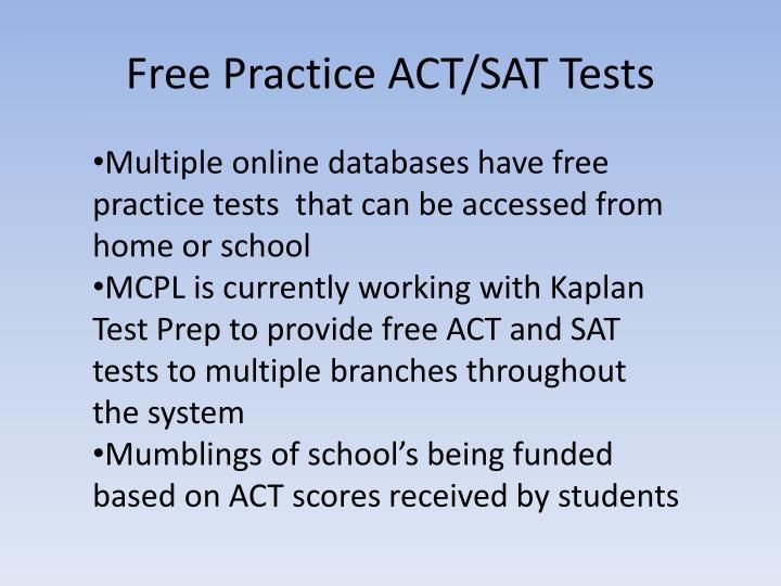 Free Practice ACT/SAT Tests