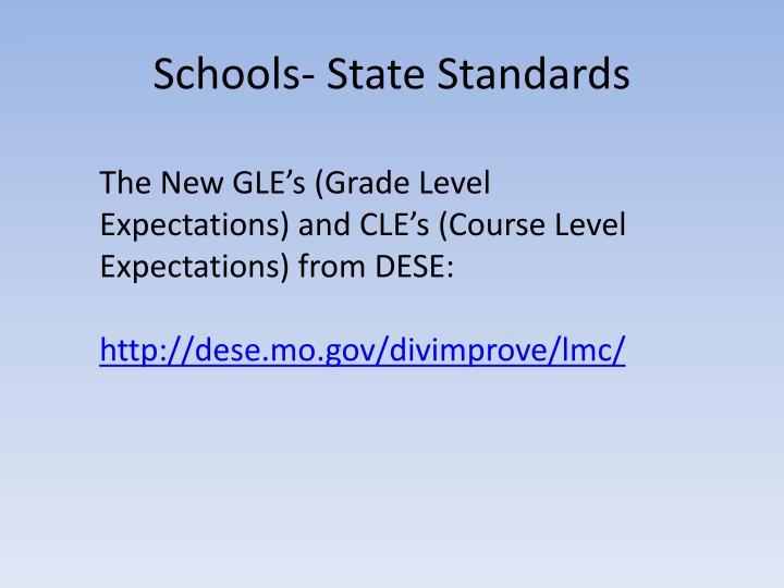 Schools- State Standards