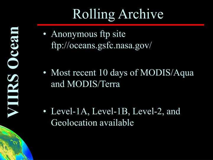 Rolling Archive