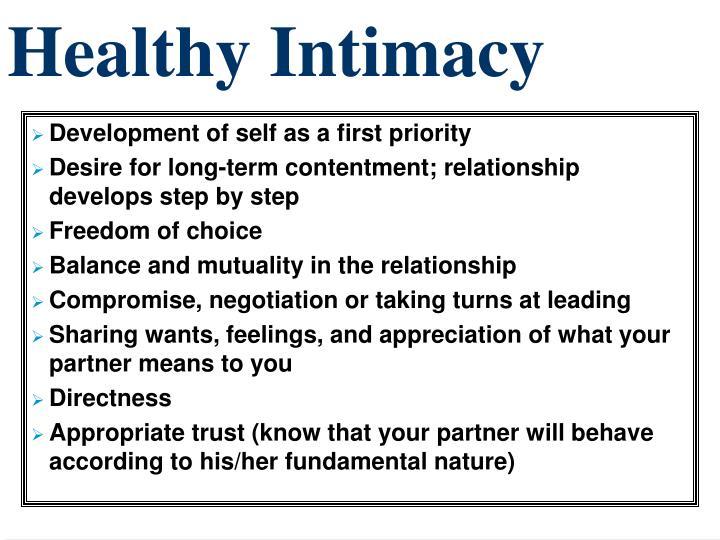 Healthy Intimacy