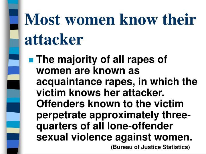 Most women know their attacker