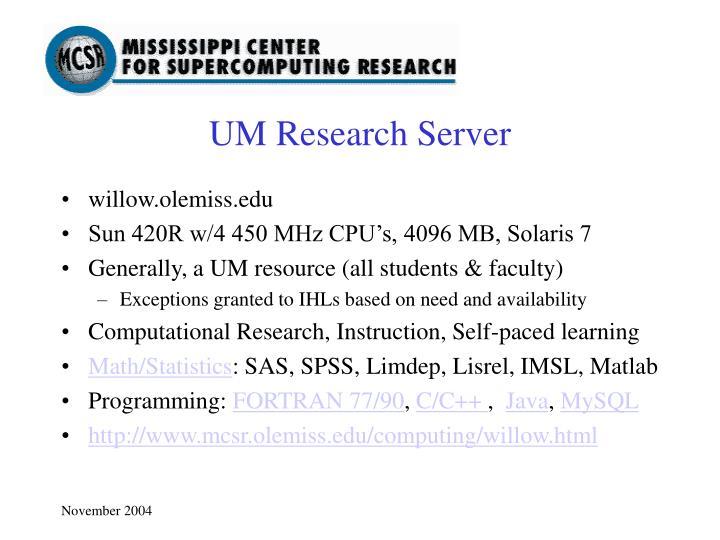 willow.olemiss.edu