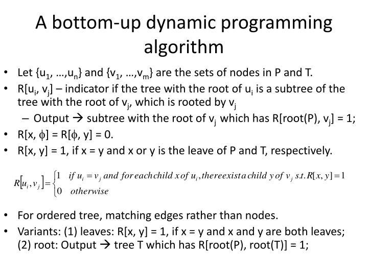 A bottom-up dynamic programming algorithm
