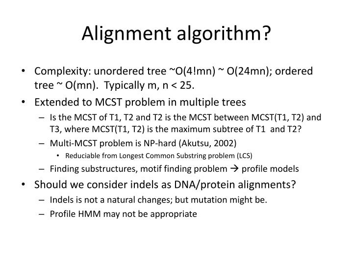 Alignment algorithm?