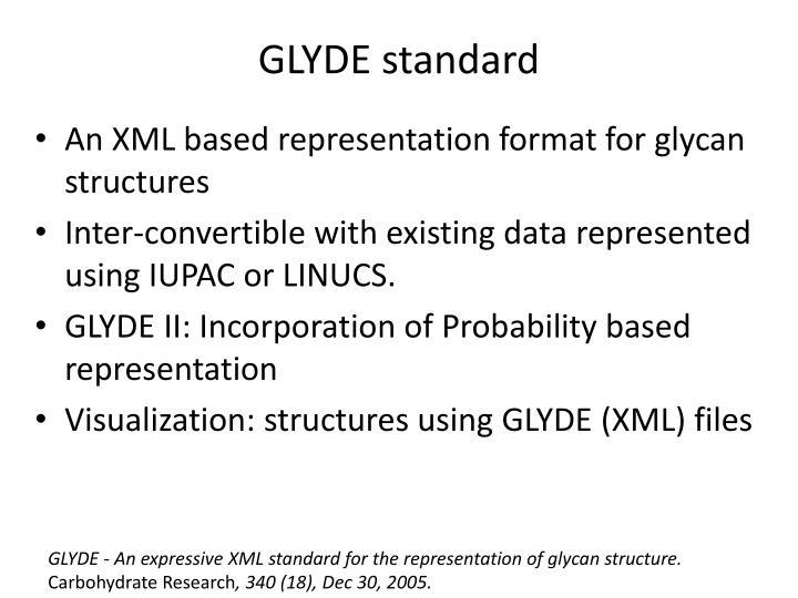 GLYDE standard