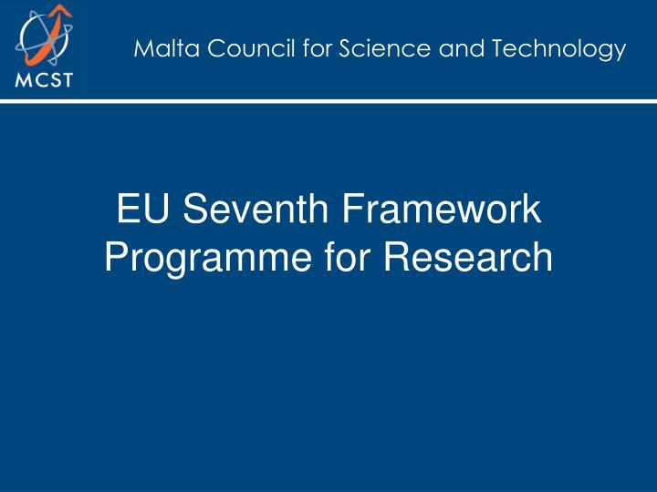 EU Seventh Framework Programme for Research