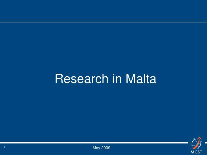 Research in Malta