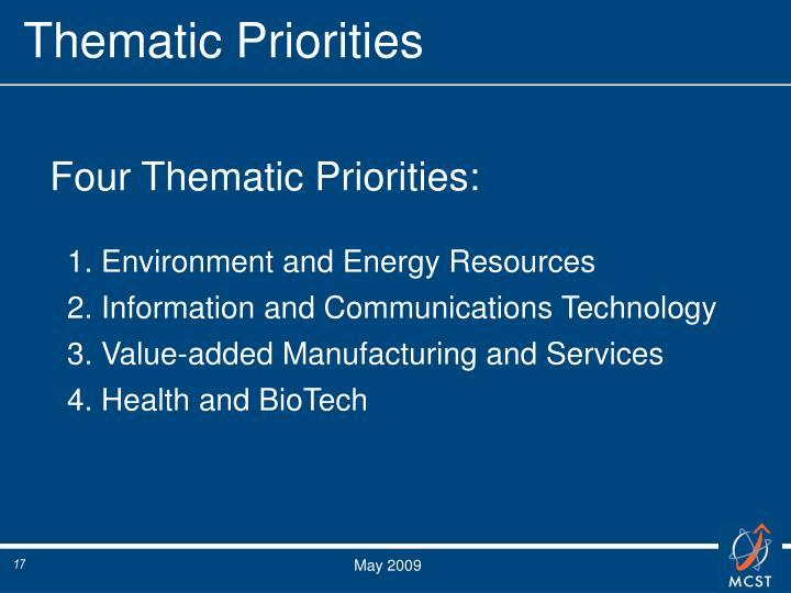 Thematic Priorities