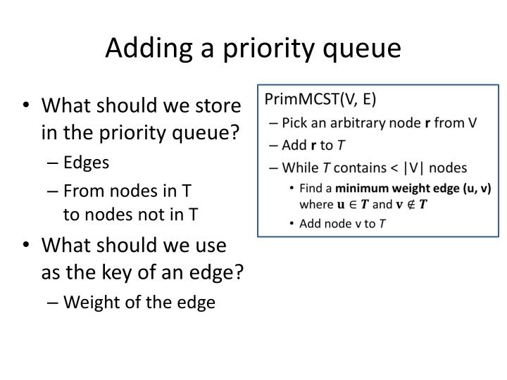 Adding a priority queue