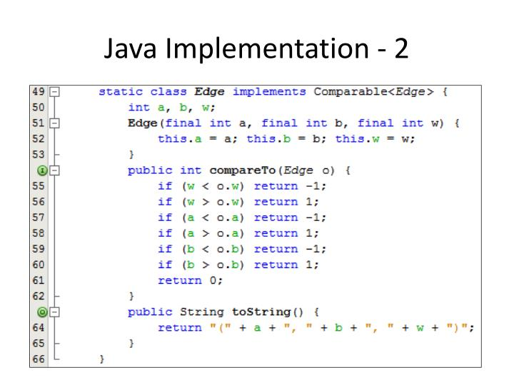 Java Implementation - 2